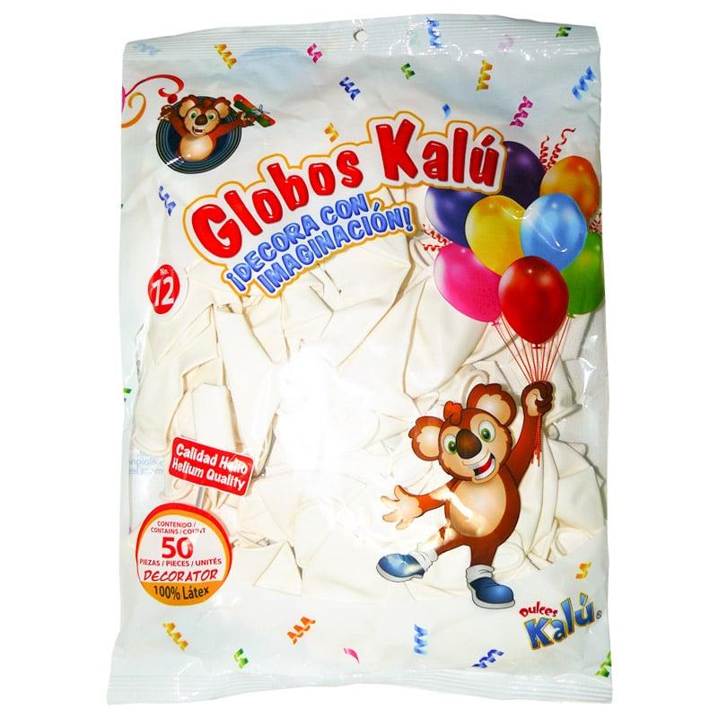 GLOBOS KALU #12 50PCS BLANCO