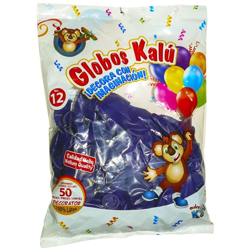 GLOBOS KALU #12 50PCS VIOLETA PASTEL