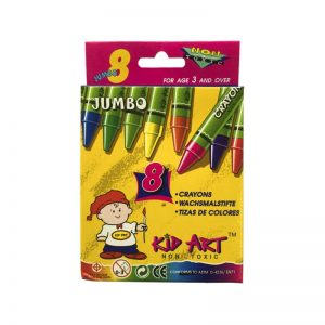 CRAYON KID ART 8 COLORES JUMBO DOC