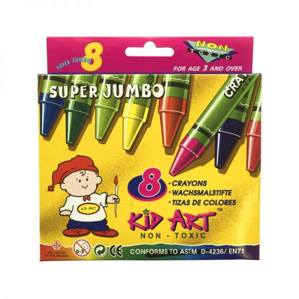 CRAYON KID ART 8 COLORES SUPER JUMBO DOC