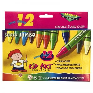 CRAYON KID ART 12 COLORES SUPER JUMBO DOC