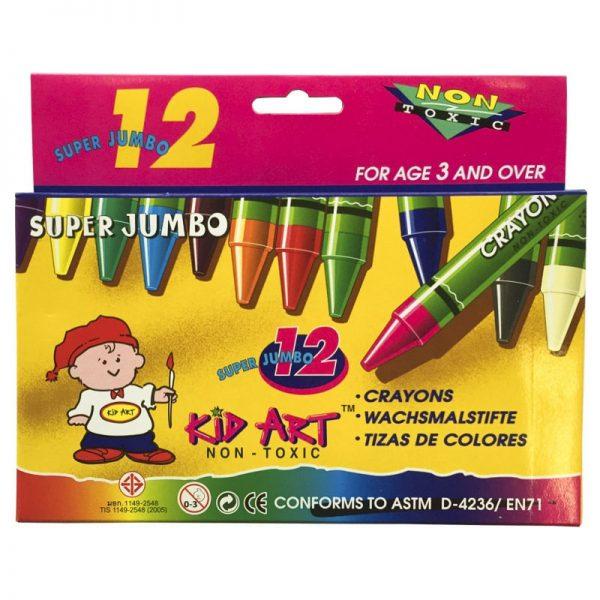 CRAYON KID ART 12 COLORES SUPER JUMBO DOC