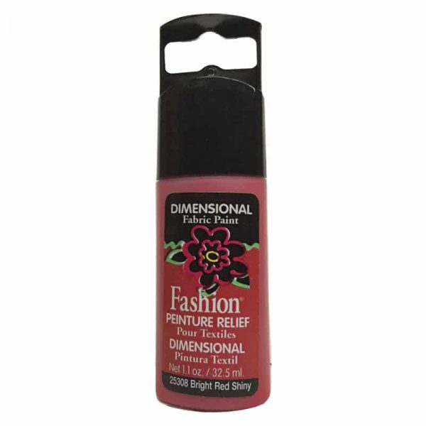 PLAID PINTURA DIMENSIONAL SHINY BRIGHT RED 32.5ml DOC
