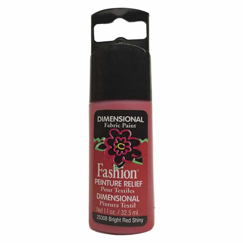 PLAID PINTURA DIMENSIONAL SHINY BRIGHT RED 32.5ml DOC