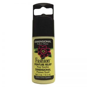 PLAID PINTURA DIMENSIONAL SPARKLE CITRON 32.5ml DOC