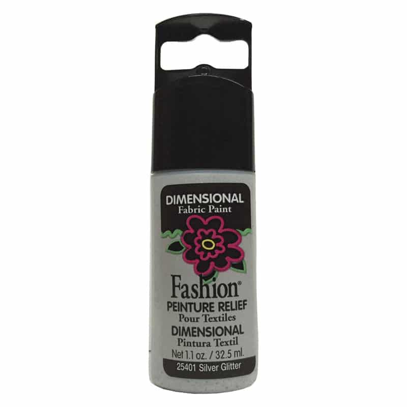 PLAID PINTURA DIMENSIONAL GLITTER SILVER 32.5ml DOC