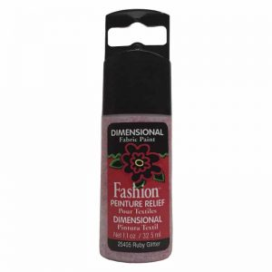 PLAID PINTURA DIMENSIONAL GLITTER RUBY 32.5ml DOC